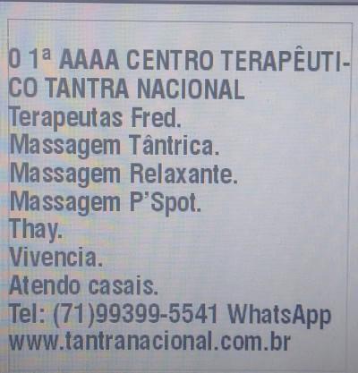 Fred massoterapeuta em Salvador
